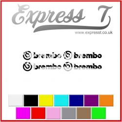 Brembo Calliper Stickers x 4